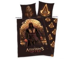 Herding Assassins Creed Juego de Cama, Algodón, Marrón, 135 x 200 cm