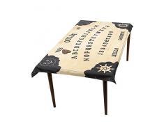 SmiffyS 46902 Mantel Con Tablero De Ouija Y Posavasos De Plancheta, Tamaño Único