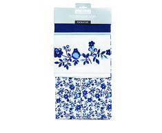 Kitchen Craft - Paños de cocina (2 unidades, diseño de flores), color azul