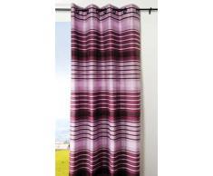 Lovely Casa R66503003 Tiago - Cortina con Ojales (poliéster, 135 x 240 cm), Color Violeta