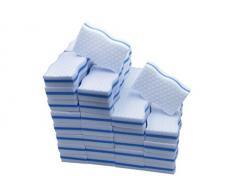 Sin Marca Magia limpia melamina esponja de forma de ola de alta calidad Compresión de alta temperatura 100X 60X 25mm (20 piezas)