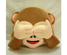 Mono Cojín/regalo de cumpleaños/Cojín/para decorativa Emoji risa Emoticon almohada acolchado Decoración Cojín Silla Cojín Asiento Cojín redondo