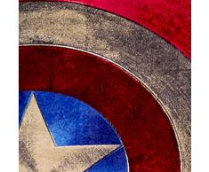 "Marvel Capitán América Distressed Shield playa/toalla de baño de felpa, 28 ""por 58"""