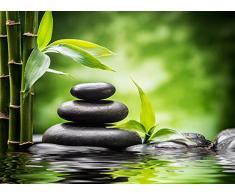 Cortina Confeccionada Zen Piedras y Bambú | Varias Medidas 350 x 230 cm