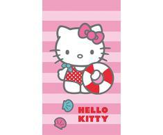 CTI 042340 toalla de baño Hello Kitty Deauville, algodón y velour, 70 x 120 cm
