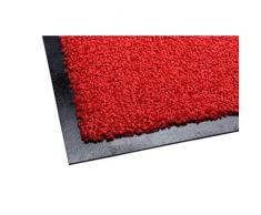 acerto 30208 Alfombrilla antisuciedad Premium Zanzibar Rojo 90x150cm * Extremadamente Resistente * Exterior e Interior * Resistente a Las heladas * Libre de PVC - Limpia Puerta de Entrada Alfombrilla