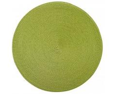 Saleen Mantel individual redondo, 40 cm, color verde