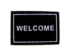 Alfombra puerta Bienvenido accesorio miniatura casa muñecas 014