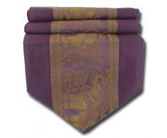 by soljo - púrpura mesa de mantel de lino camino de mesa corredor seda tailandesa elefante Elegante 150 cm de largo x 30 cm