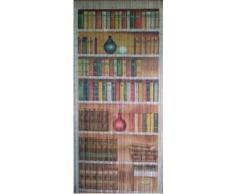 Cortina de cuentas de bambú estante de libro