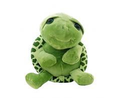Hacoly Lindos Ojos Grandes Peluche Tortuga 18 cm Color Verde Juguete Almohada de Forma de Tortuga