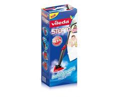 Vileda Steam - Mopa de limpieza a vapor (Depósito de 0.4 L, gamuza de microfibras, accesorio alfombras)