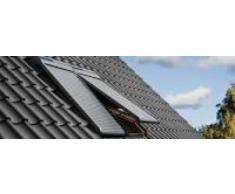 Velux eléctrico de persiana (SML PK06 0000s, aluminio gris oscuro
