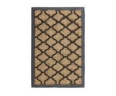 William Armes Sherpa - Felpudo antideslizante de fibra de coco (60 x 40 cm), diseño de mosaico