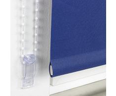 62 x 180 cm Liedeco de cama Blackout estor enrollable, negro, poliéster, azul, 092 X 180 cm