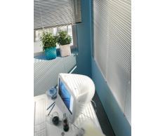 Gardinia 6861 - Persiana (Aluminio, 25mm, 90x175cm), Color Blanco
