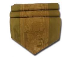 by soljo - oro mesa de mantel de lino camino de mesa corredor seda tailandesa elefante Elegante 150 cm de largo x 30 cm