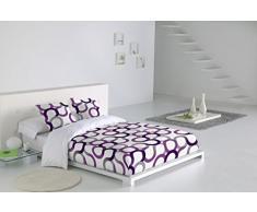 SABANALIA Juego de funda nórdica Aros (disponible en varios tamaños y colores), Cama 135, color lila