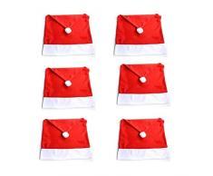 Emmala 6 Piezas De Sombrero De Papá Noel Navidad Hussen único Silla Cubre Algodón Rojo para La Decoración De La Fiesta De Navidad De Navidad (Color : Colour, Size : Size)