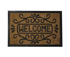 Maurer 5291045 - Felpudo fibra coco y goma welcome 40 x 60 cm, color marrón