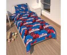 Ropa de cama microfibra 135 x 200 cm Marvel Spiderman + 80 x 80 cm funda de edredón y funda de almohada