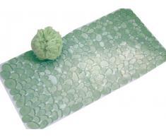 InterDesign Pebblz - Tapete para baño, Verde