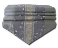 by soljo - gris mesa de mantel de lino camino de mesa corredor seda tailandesa elefante Elegante 150 cm de largo x 30 cm