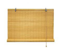 Victoria M - Persiana de bambú para interiores, color bambú, tamaño: 80 x 160 cm