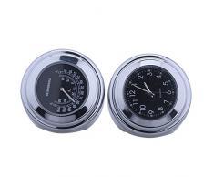 """Reloj reloj relojes motocicleta manillar reloj de la motocicleta universal termómetro temp 7/8 """"-1"""