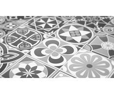 La etiqueta engomada de la escala de grises azulejos decoración (con 32), gris, 6 x 6 inches | 15 x 15 cm
