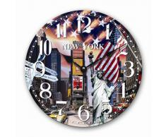 RELOJ DE PARED DISENO NUEVA YORK BIG APPLE RELOJ DE LA COCINA - 30CM - CUARZO - MODERNO NUEVO - Tinas Collection