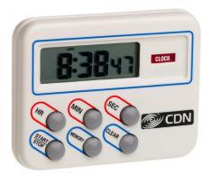 CDN - Temporizador multitarea y reloj digital de cocina con memoria