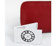 'Cara del Reloj Número Romano' Espejo Compacto / de Bolsillo (CM00008950)
