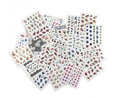 AIUIN 50 Piezas Pegatina de Uñas Francesas Guías de Clavar Tip Pegatinas Conjunto con Diferentes Formas para Uñas de Manicura,49.5*64MM