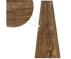 Jago - Suelo de PVC en color natural de roble (7 PVC láminas, de longitud de 91,44 cm y anchura de 15,24 cm)