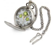 Doctor Who The Master - Reloj de bolsillo grabado con cadena