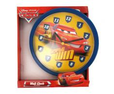 Hama - Reloj de pared infantil, diseño de Cars, color rojo