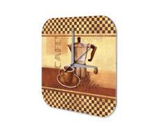 Reloj De Pared Coffee Cafe Bar Marke Copa Cafetera Plexiglas Imprimido 25x25 cm