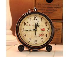Bluelover Aralm vintage reloj mesa escritorio reloj Retro estilo Rural decoración hogar decoración reloj de pared -2