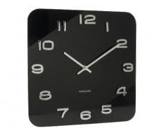Karlsson Vintage - Reloj de pared, cristal, color negro