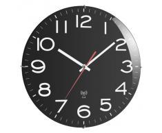 TFA 60.3509 - Reloj de pared radio control, color negro