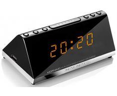 Sunstech MORNINGV2 - Radio despertador (AM/FM, digital, alarma x 2, función Snooze)