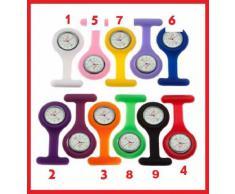 CPI Nurse Watch - Reloj de bolsillo para colgar de batas, cinturones y broches (silicona, incluye pilas)