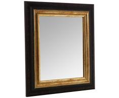 Inov8 – Espejo con Marco Toscana Borde Dorado 10 x 8 Unidades, Negro, 9 x 12 x 16 cm