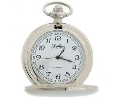 Reloj de Bolsillo Reflex Movimiento Totalmente de Cuarzo en Cadena de 12