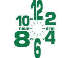 Vinilo de pared: Decoración de pared con reloj número internacional Para el salón la oficina (reloj=Dorado//Color=061 Verde)