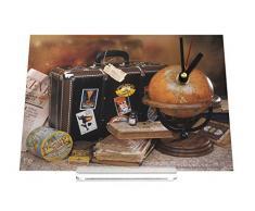 Reloj de escritorio Gira Mundial Mundial maleta mundo viajan Decoración Retro