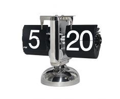 KABB Reloj Flip Retro de Números, Relojes de Sobremesa Modernos, Retro estilo exquisito y artístico - Maquinaria Interna (Negro)