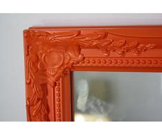 Espejo de naranja de madera antiguo baño 37 x 47 cm