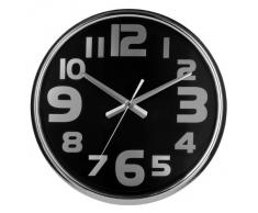 Premier Housewares - Reloj de pared (acero inoxidable, 38 x 38 x 5 cm), color negro
